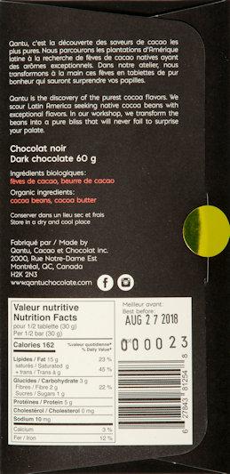 Kosak-chocolat-beantobar-qantu-noir-100-chuncho-ayacucho-pérou